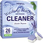 HIWILL Washing Machine Cleaner Effervescent Tablets, Solid Washer Deep Cleaning Tablet,