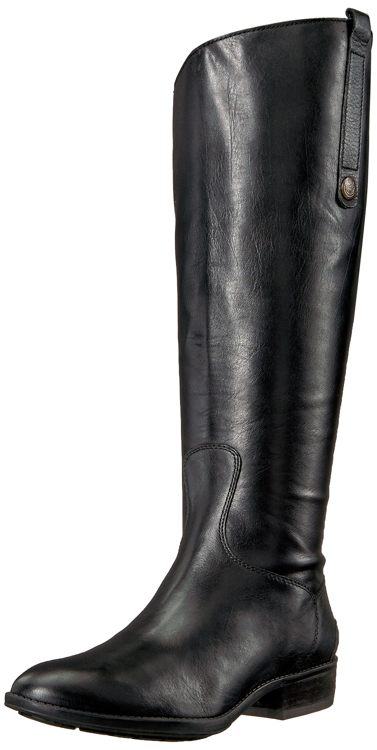 Sam Edelman Women's Penny 2 Equestrian Boot, Black Leather, 10 Wide US by Sam Edelman