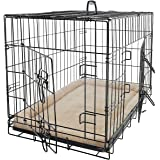 "Pet Dog Cat Crate Kennel Cage and Bed Pad Cushion Warm Soft Cozy House Kit Playpen - Available In 20"", 24"", 30"", 36"", 42"", 48"" Inches"