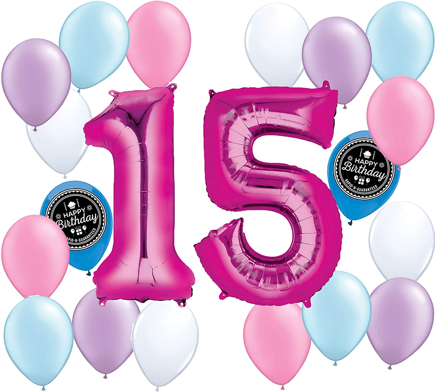 Amazon Choose Your Own Age 1 50th Girls Party Supplies Balloon Decoration Bundle For Any Happy Birthday Theme 15th Toys Games