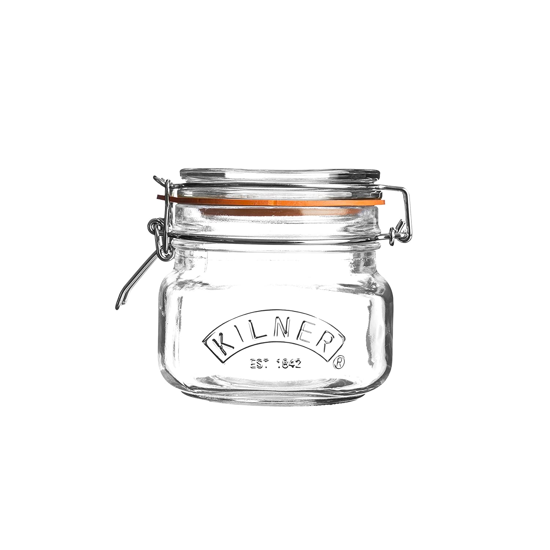 Kilner Square Clip Top Storage Jar, 0.5 Litre 0025.510