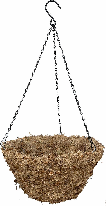 14 Inside Diameter Sphagnum Moss Hanging Basket with Chain Hanger – The Original