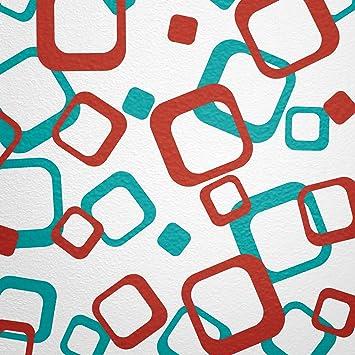 Wandfee Wandtattoo Vierecke 80 Aufkleber Farbwunsch Wandaufkleber