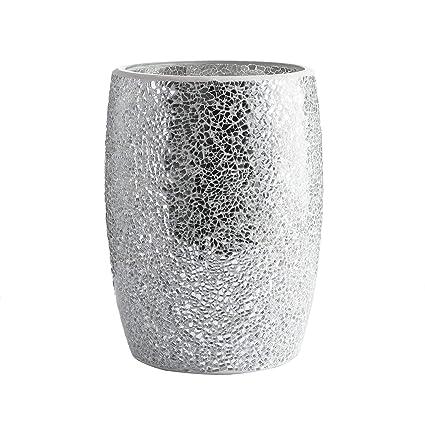 amazon com whole housewares bathroom wastebasket glass mosaic rh amazon com