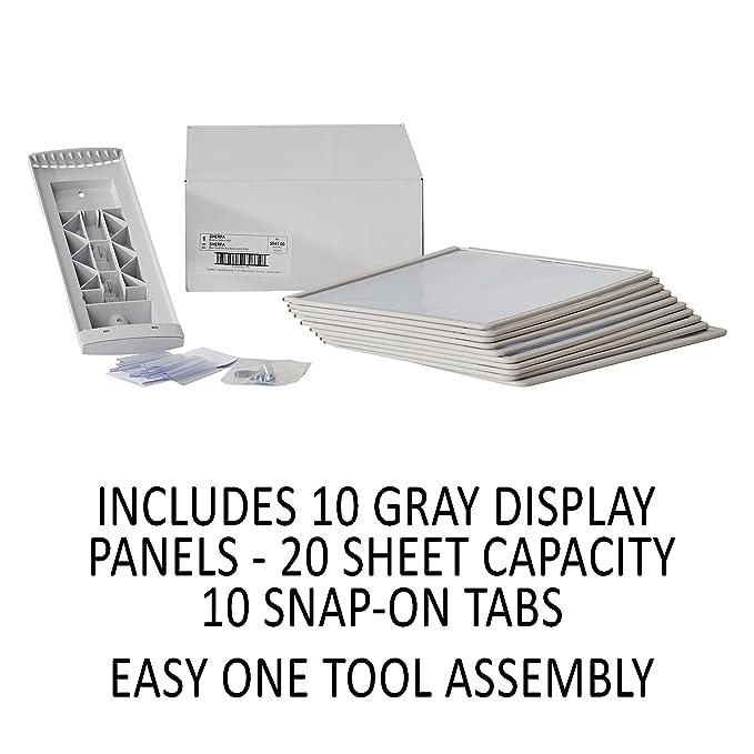 Amazon.com: DURABLE SHERPA expositor de pared de 10 paneles ...