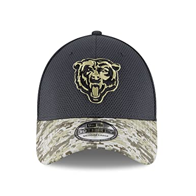 Men s New Era NFL Chicago Bears 16 Salute To Service Sideline Hat Medium    Large 70bc9d3f1394