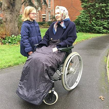 BundleBean - Cosy - Saco impermeable para sillas de ruedas - Para adultos - Con forro