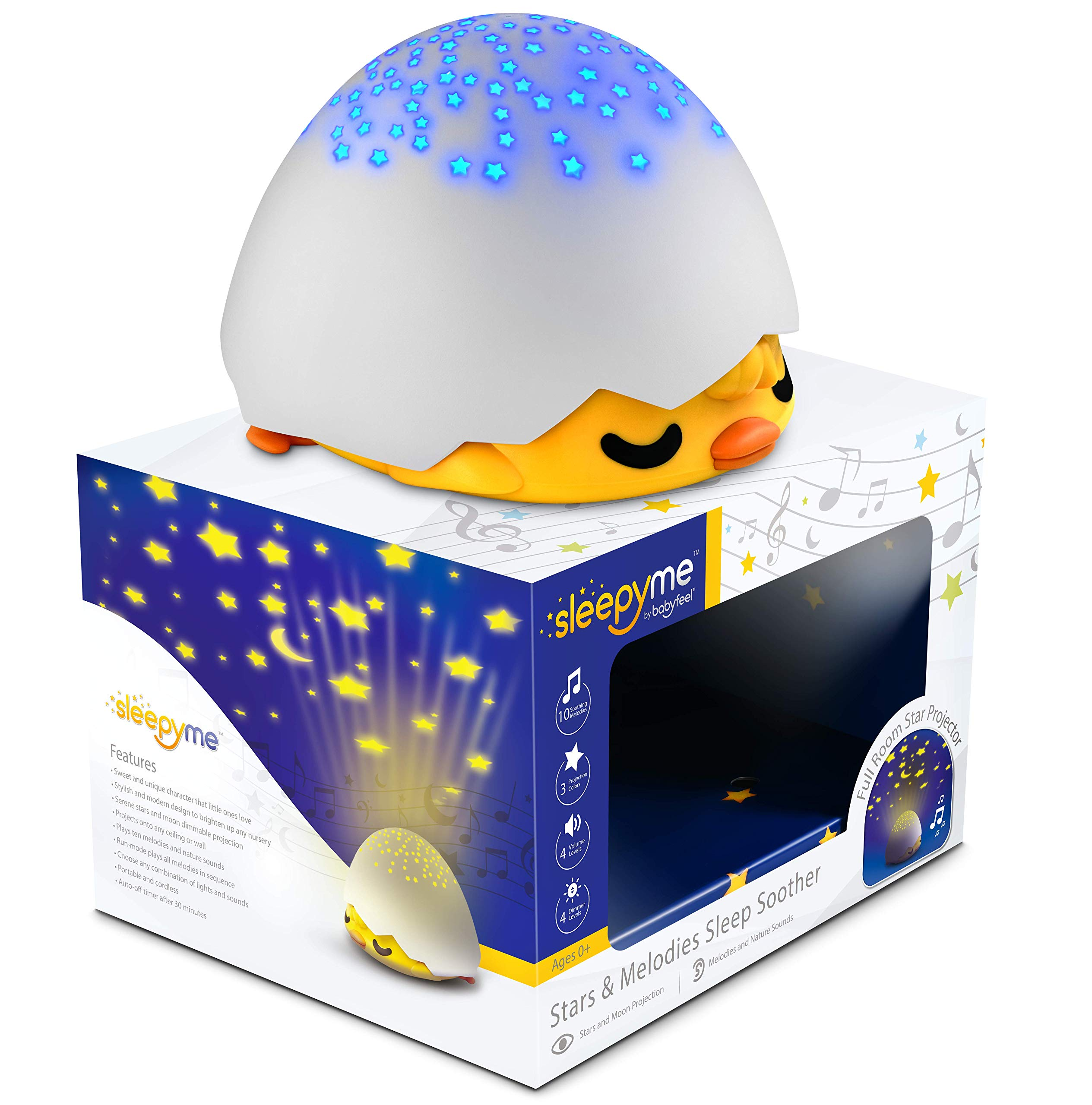 SleepyMe Smart Sleep Soother   Baby Star Projector   White Noise Sound Machine   Baby Gifts   Portable Sleep Aid Night Light with 10 Songs for Crib   Shusher Sound Machine from Birth to School