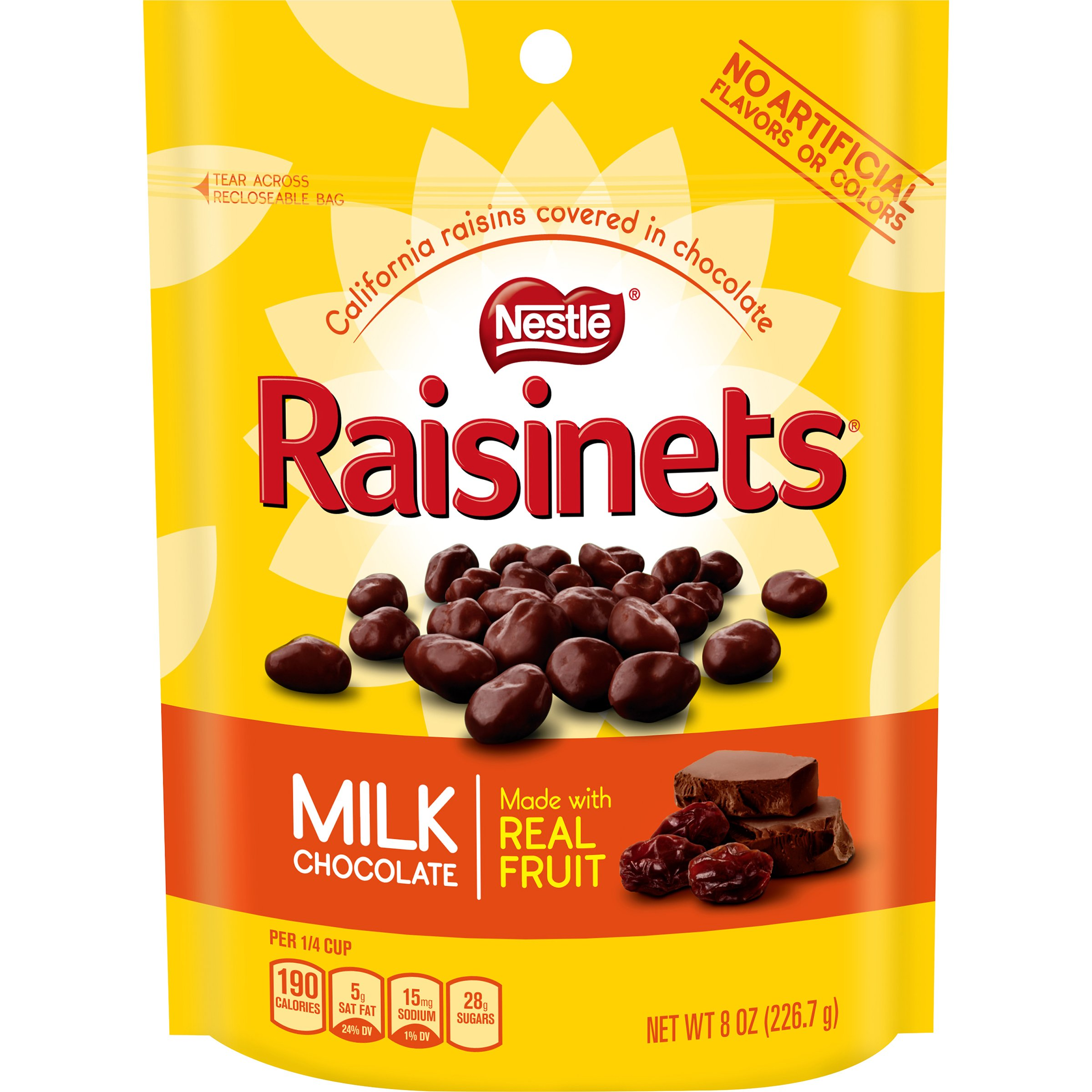 Raisinets Chocolate Stand Up Bag, Milk, 8 Ounce