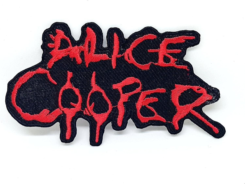 Parche bordado Alice Cooper Punk Rock para coser m/úsica de metal pesado