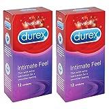 Durex Intimate Elite Feel Condom Box of 12 - Pack of 2