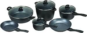 Pyrolux Pyrostone 6 Piece Non-Stick Cookware Set, Black
