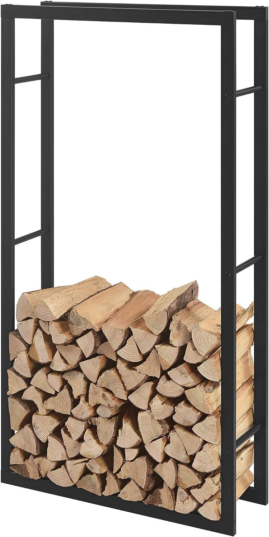 Kaminholzregal 100x100x25cm Brennholzregal Feuerholzregal Holzhalter en.casa