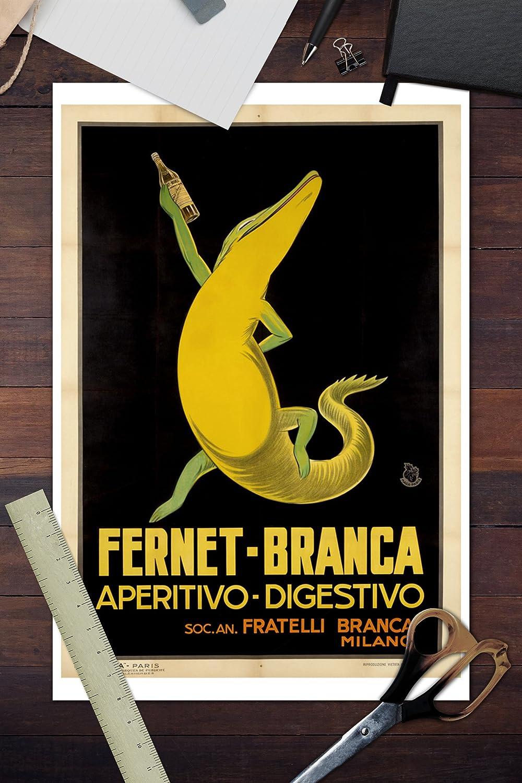 Amazon.com: Fernet - Branca Vintage Poster France c. 1932 (12x18 ...