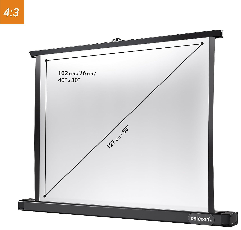 61 x 46 cm avec r/étraction Automatique celexon Ecran de Table pour projecteur Mobile Professional Mini 4: 3 Gain 1,2