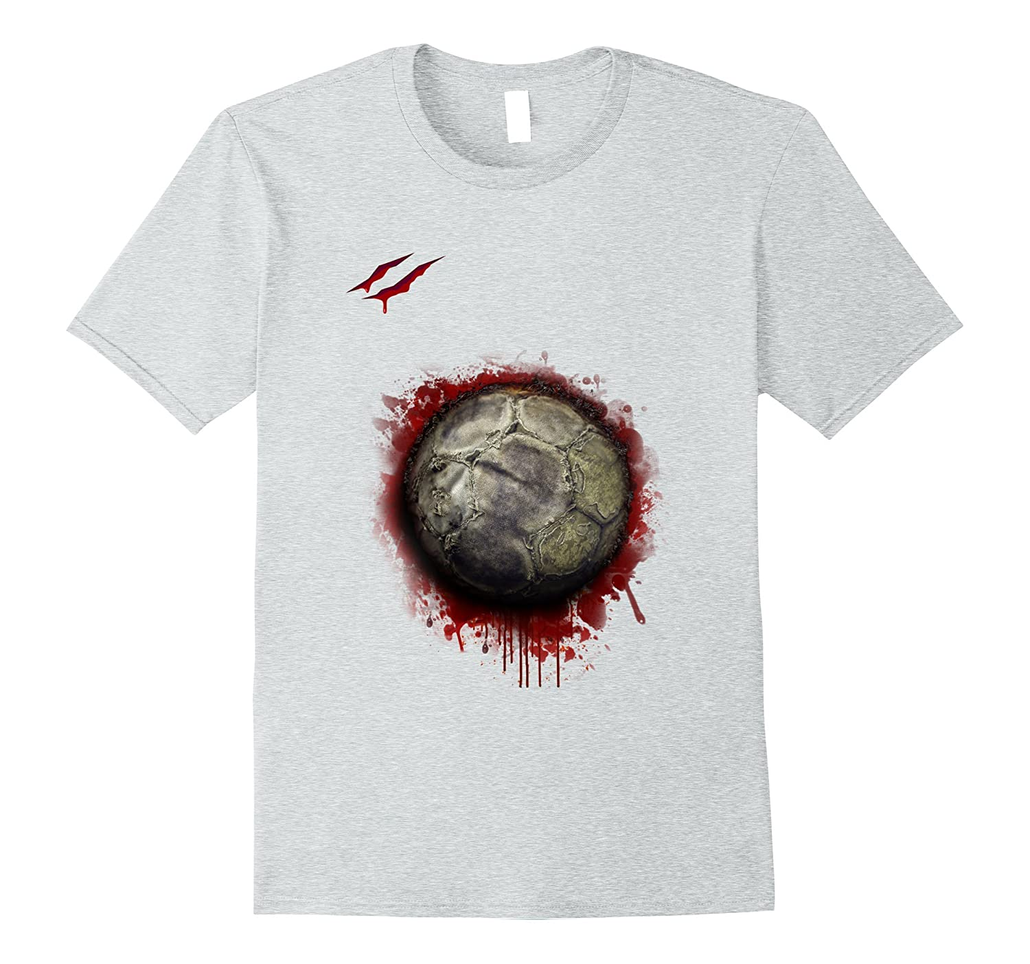 zombie soccer player tshirt halloween 2017-FL