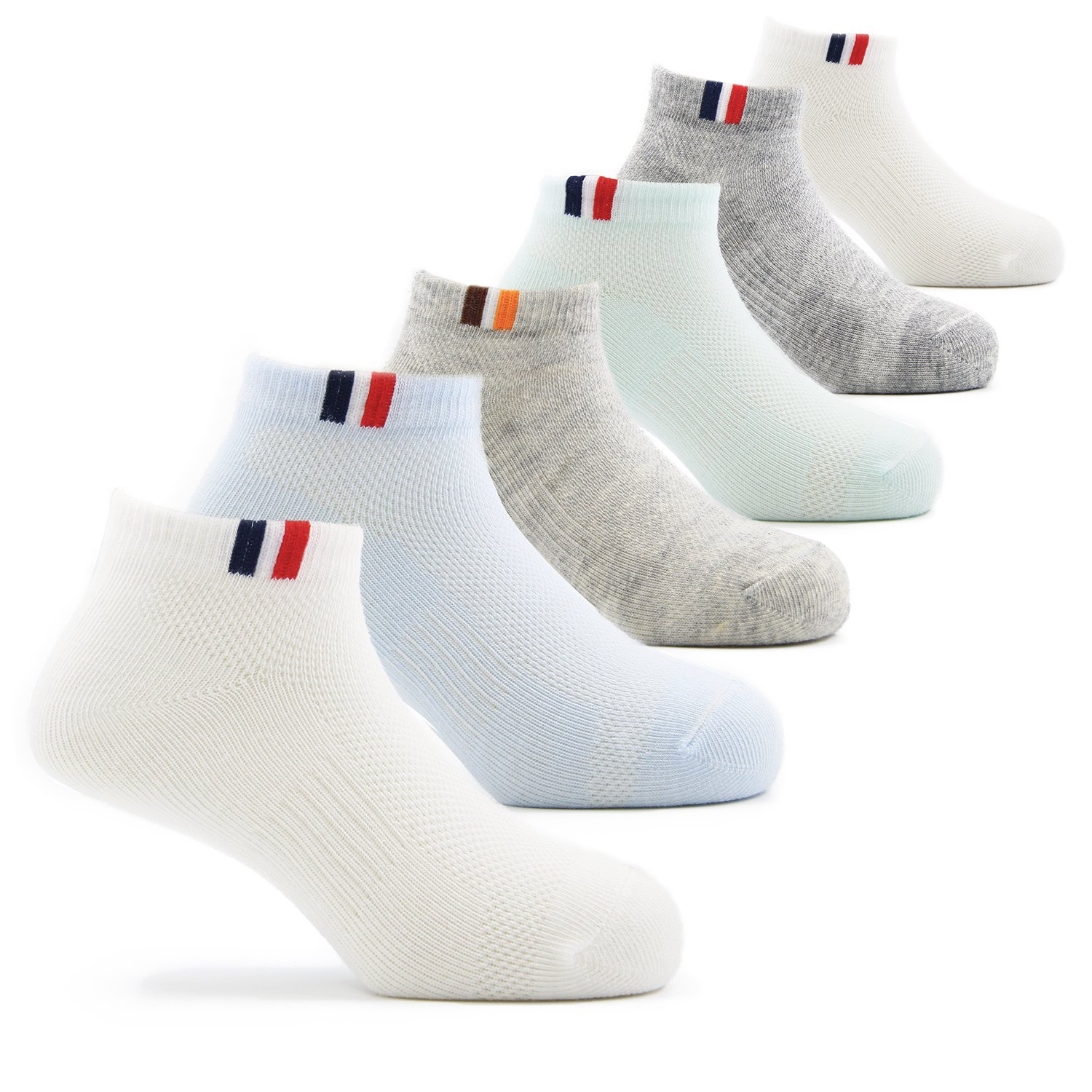 Boys Cotton Ankle Socks Kids Short Socks 6 Pack 6T