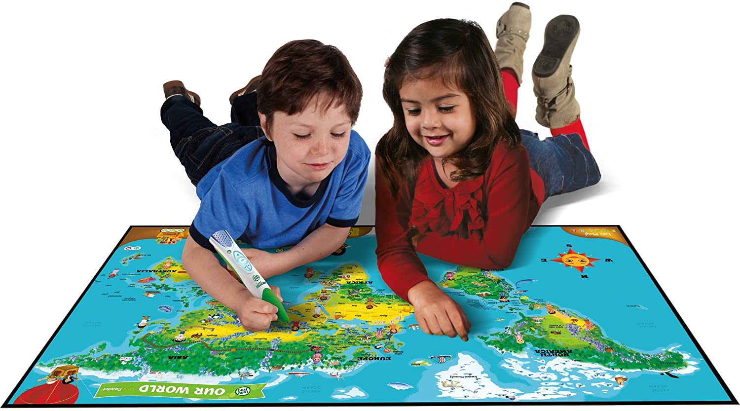 Amazon leapfrog leapreader interactive world map works with amazon leapfrog leapreader interactive world map works with tag toys games gumiabroncs Gallery