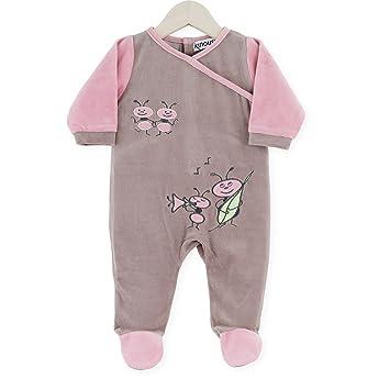 9654a71fcbbff Kinousses 810 1019 Pyjama en Velours Motif Fourmizzz pour Fille Choco 12  Mois
