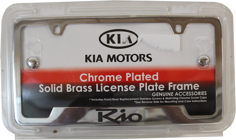 Genuine Kia Accessories UR010-AY105UL Chrome License Plate Frame with Red Logo for Kia Soul