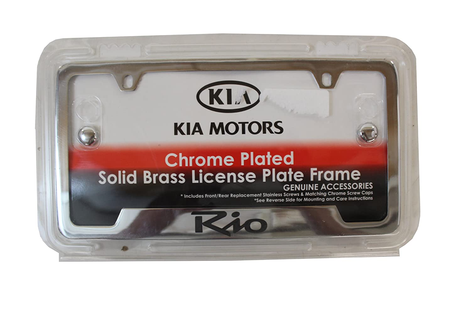 Kia Genuine Accessories UR010-AY100JB Chrome License Plate Frame for Select Rio 4//5-Door Models