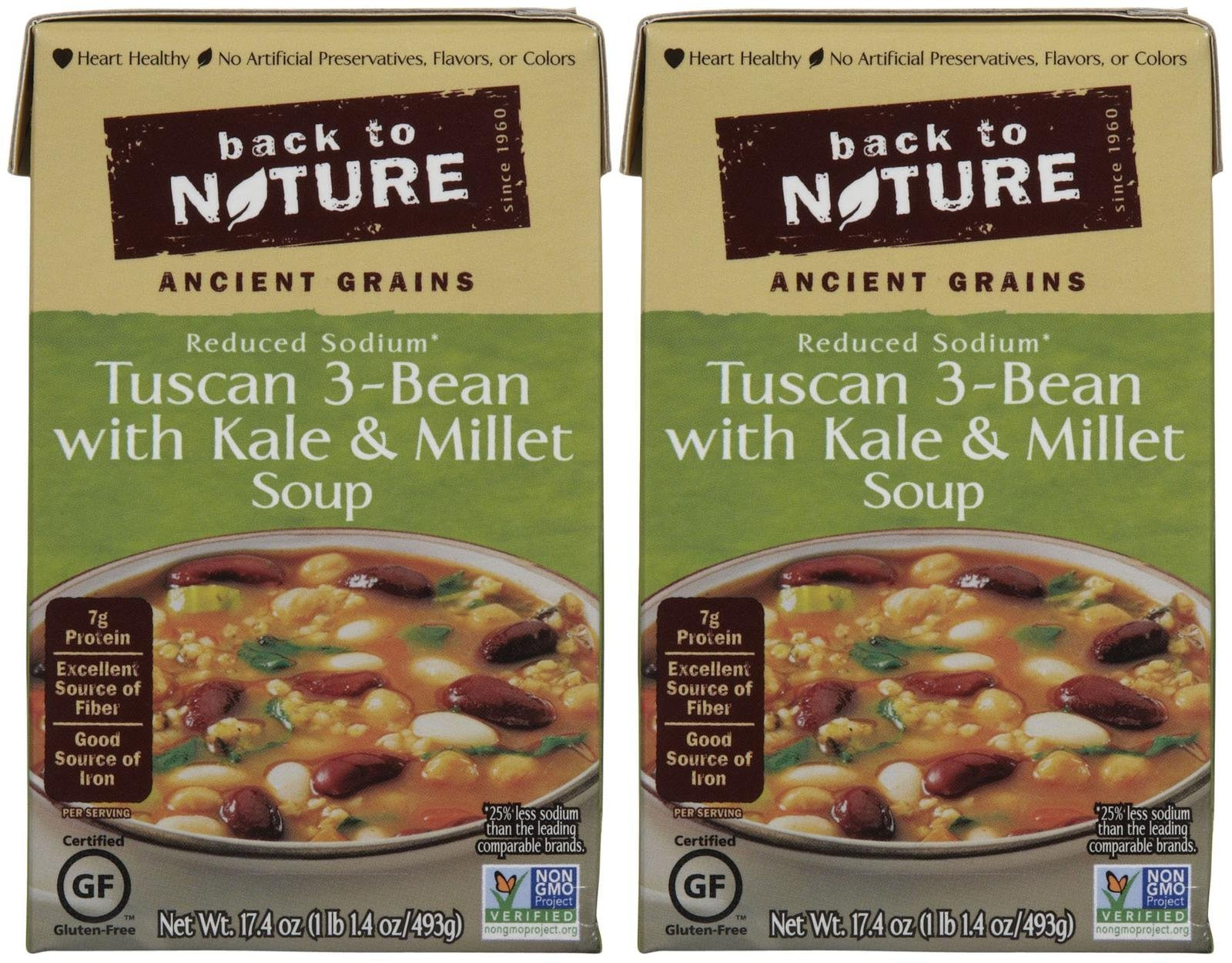 Back To Nature Soup Tuscan 3bean Kale