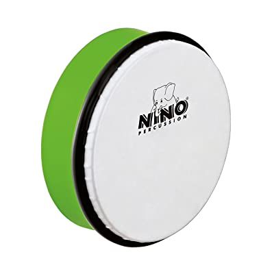 Nino Percussion NINO4GG 6-Inch ABS Plastic Hand Drum with Synthetic Head, Grass Green: Musical Instruments