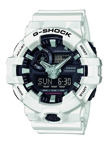 Casio Reloj Analogico para Hombre de Cuarzo con Correa en Resina GA-700-7AER: Amazon.es: Relojes