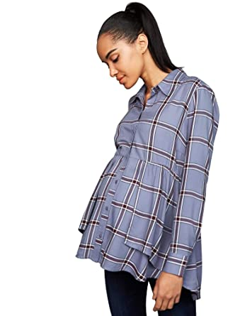 00e697aae4837 A Pea in the Pod Button Front Maternity Shirt at Amazon Women's Clothing  store: