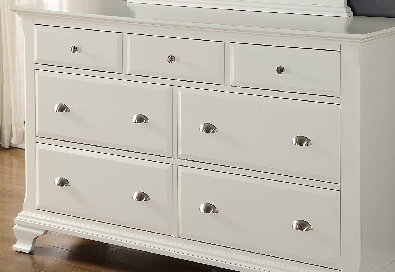 Amazoncom Roundhill Furniture Laveno 012 White Wood