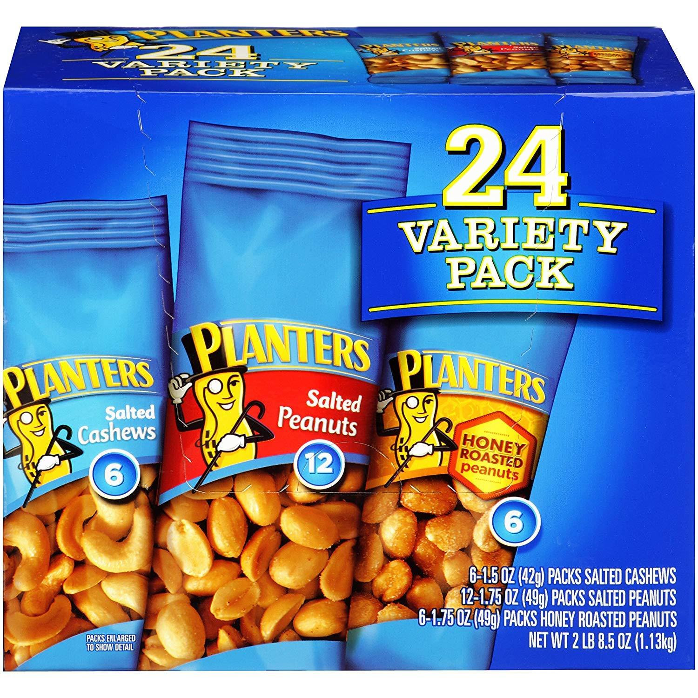 Planters GGAE Nuts Variety Pack, 4 Pack 24 Variety Pack
