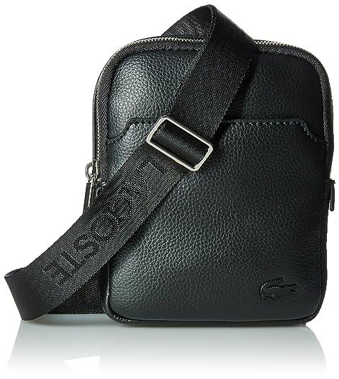 a7a744040 Lacoste NH1739GL, Bolso Bandolera para Hombre, (Black), 16.5 x 3 x 13 cM:  Amazon.es: Zapatos y complementos