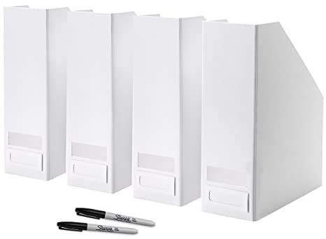 Ikea Magazine Holders Con Etichette E Pennarelli U2013 Made Per Riviste  Giornali U2013 Loose Paper U2013