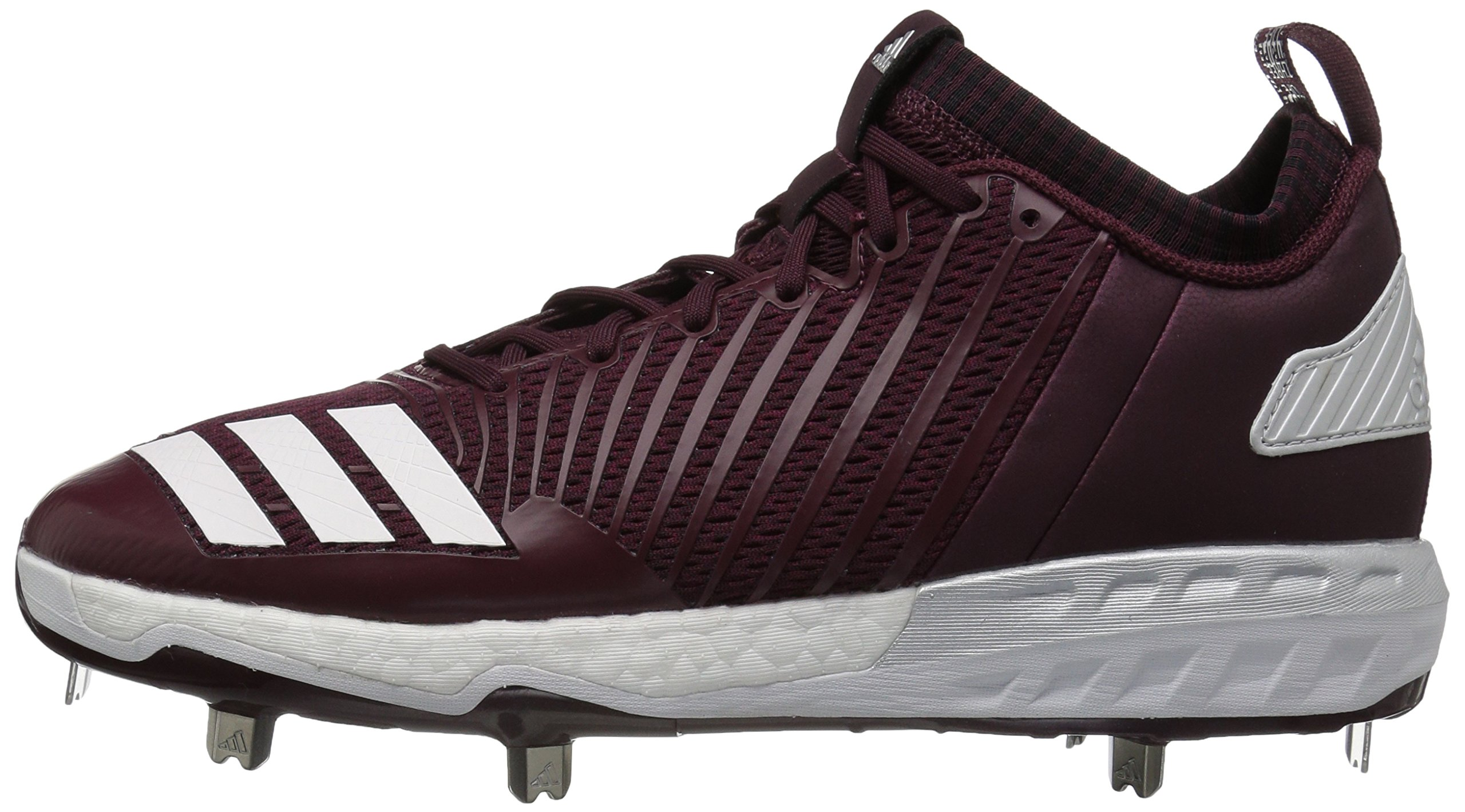 adidas Men's Freak X Carbon Mid Baseball Shoe, Maroon/White/Metallic Silver, 7.5 Medium US by adidas (Image #5)