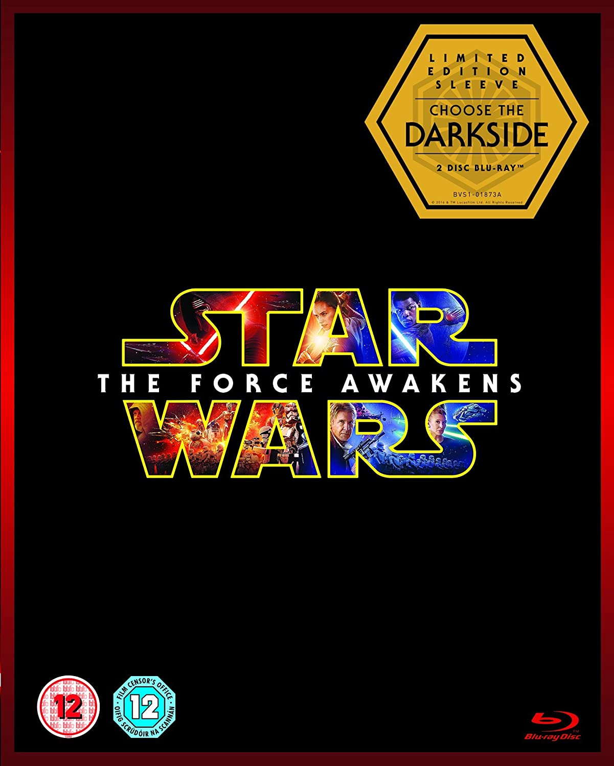 Star wars the force awakens limited edition dark side artwork star wars the force awakens limited edition dark side artwork sleeve blu ray 2015 amazon harrison ford carrie fisher daisy ridley john boyega malvernweather Image collections