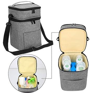 Amazon.com: Luxja - Bolsa enfriadora de leche materna, a ...