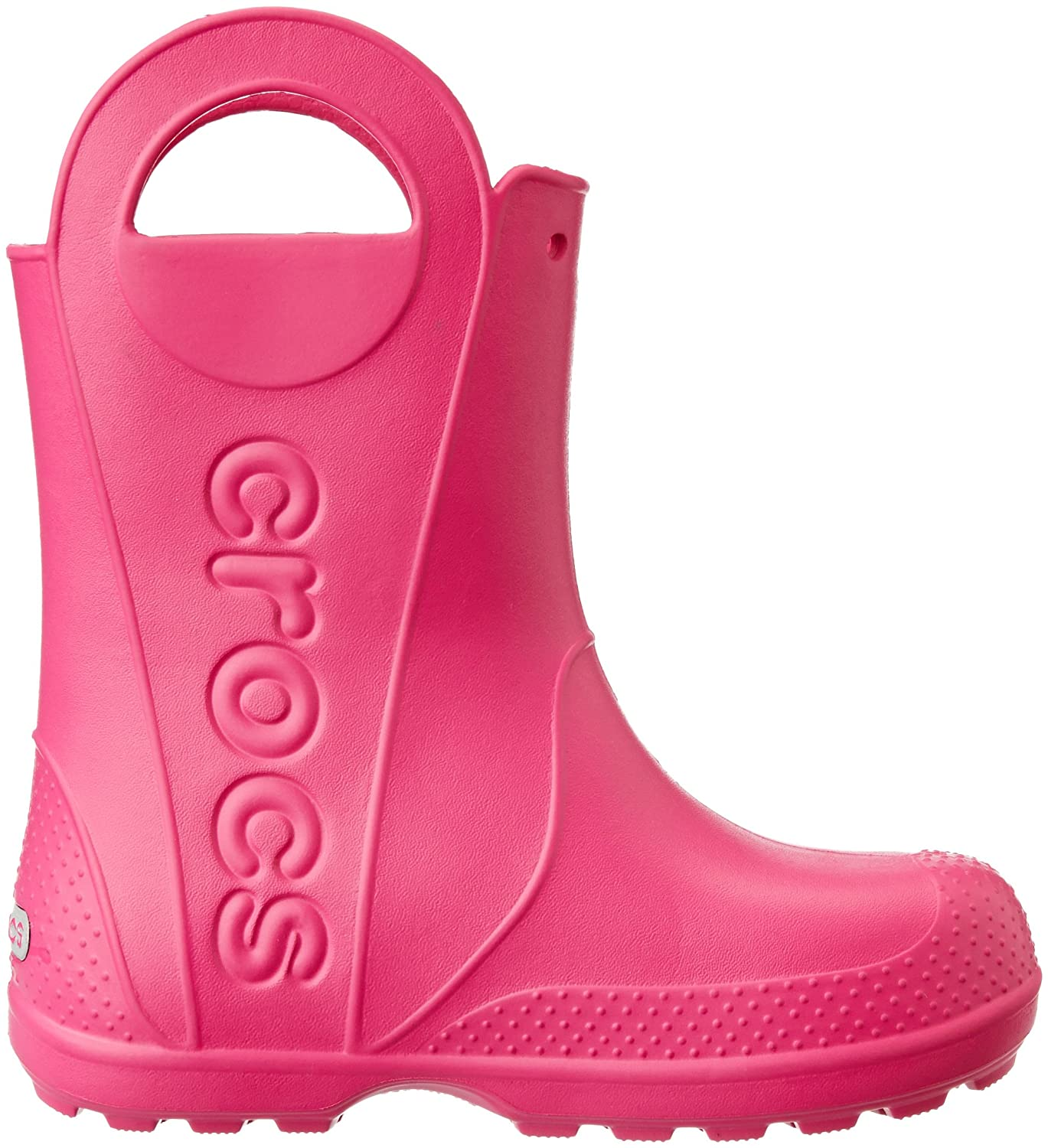 Lightweight and Waterproof Boys Girls Crocs Kids Handle It Rain Boot Easy On for Toddlers
