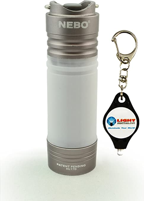 Nebo Poplite Keychain Mini LED Lantern Torch With Magnetic Base