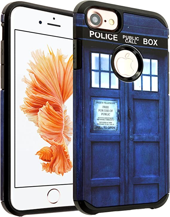 dr who tardis comic 2 iphone case