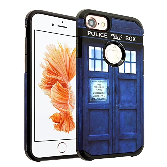 9d9281d4d iPhone 6S PLUS Doctor Who Case, DURARMOR [Shock Absorption] Tardis Dr. Who