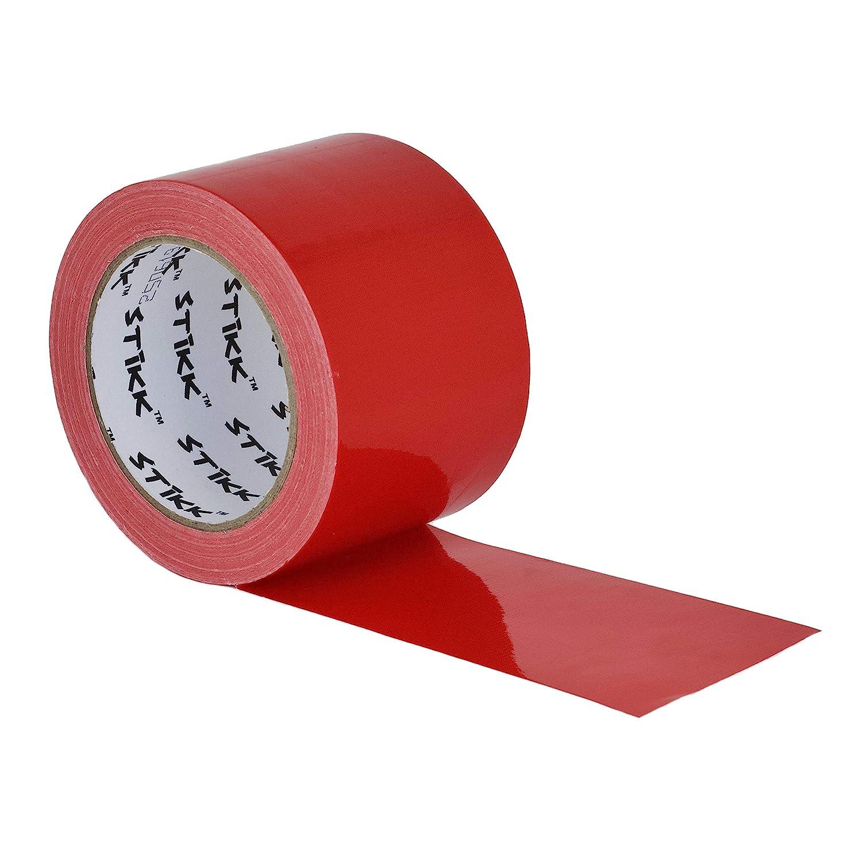 Ruban adh/ésif r/ésistant aux intemp/éries 7,5 mm d/épaisseur avec rev/êtement en poly/éthyl/ène 25 yd Rouge