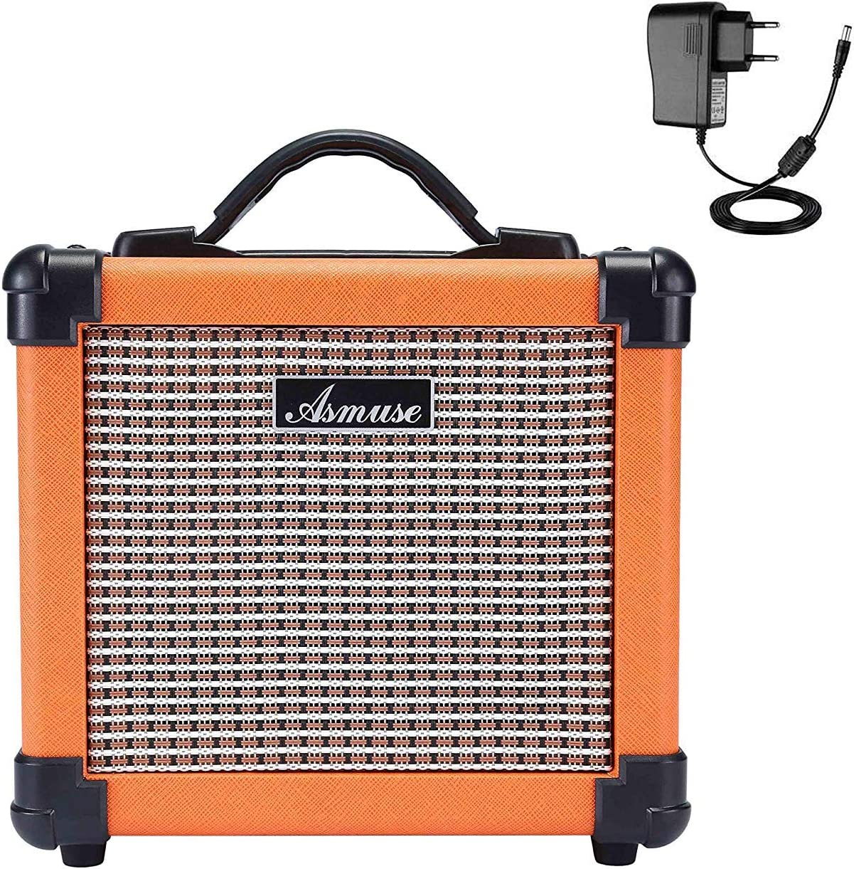Asmuse Amplificador de Guitarra Eléctrico Portatil Bajo Combo Instrumentos Mini Amplificador Práctica Para Guitarra Acústica 10W