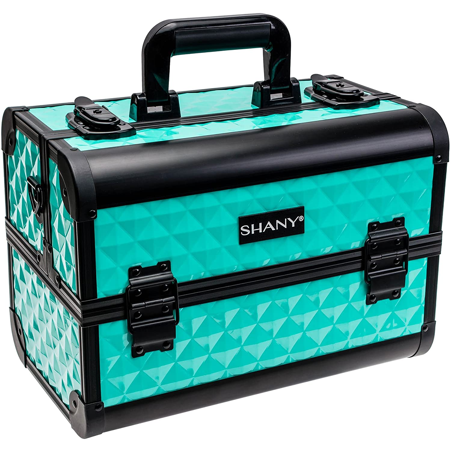 SHANY Premier Fantasy Collection Makeup Artists Cosmetics Train Case - Turquoise