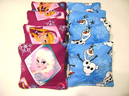 Groovy Amazon Com Frozen Cornhole Bean Bags Mini 4X4 Kids Machost Co Dining Chair Design Ideas Machostcouk