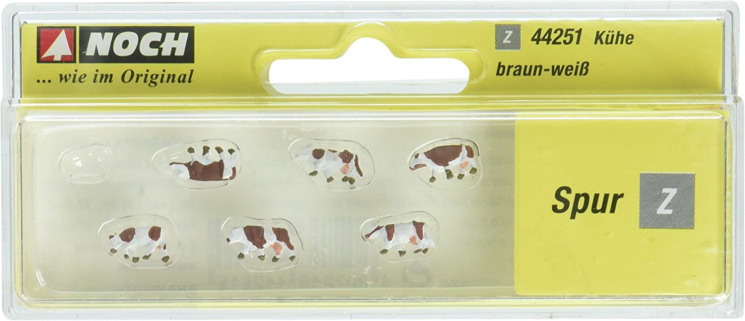 Noch 44251 Cows Brown /& White Z Scale  Figures