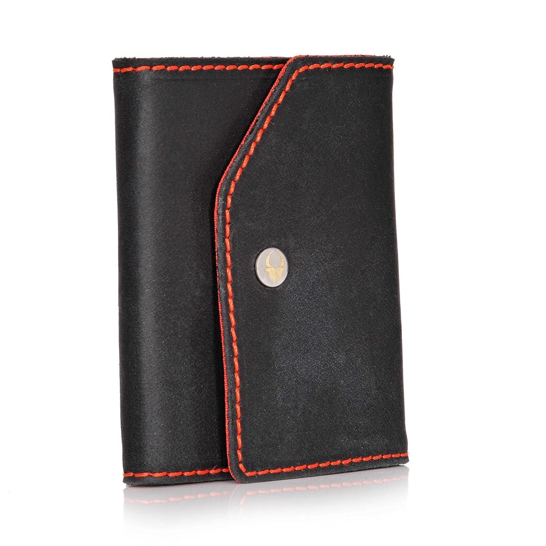 d6e3e12a3c9ca Donbolso Mini Geldbeutel Hamburg Herren RFID Geldbörse Kartenetui mit  Münzfach Leder Karten Portemonnaie Männer Klein Slim