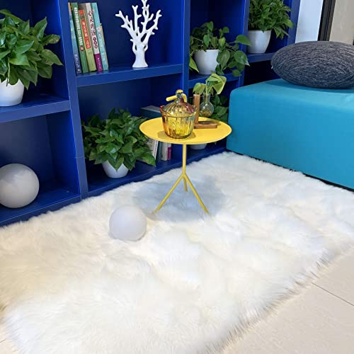 Ultra Soft Fluffy Faux Fur Sheepskin Area Rug Furry Shaggy Rug