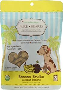 Cocotherapy Pure Hearts Coconut Cookies – Banana Brulee, (1 Pouch), 5 Oz.