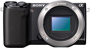 Sony  NEX-5R/B 16.1 MP Mirrorless Digital Camera with 3-Inch LCD - Body Only (Black)