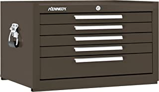 """product image for Kennedy Manufacturing 285XB 27"""" 5-Drawer Industrial Top Chest, Tan Brown Wrinkle"""